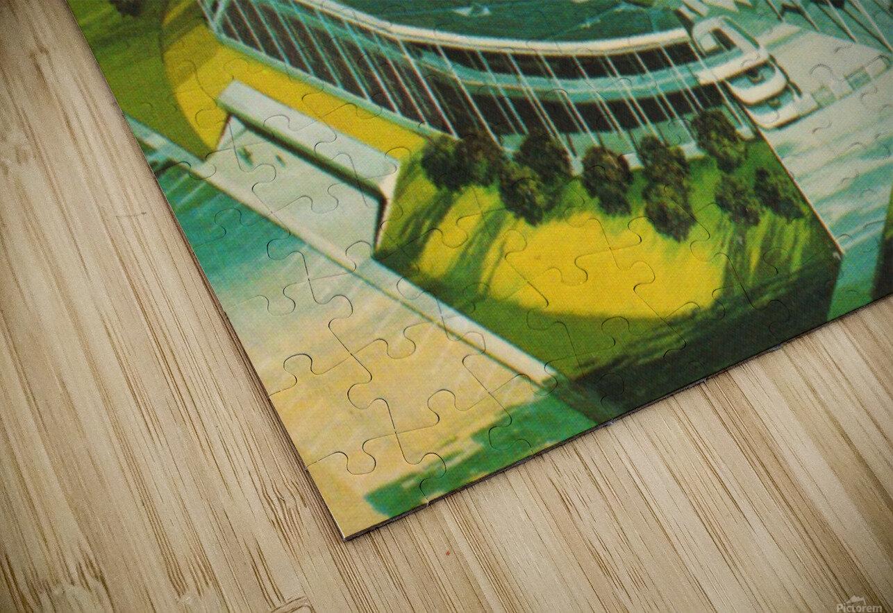 1982 BYU Cougar Stadium Art HD Sublimation Metal print
