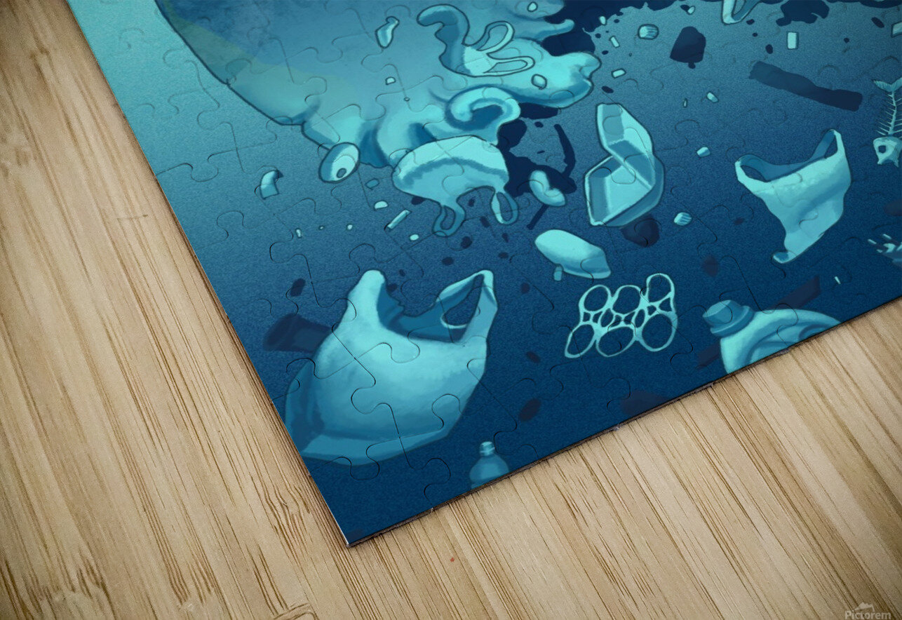 Clean the Planet HD Sublimation Metal print