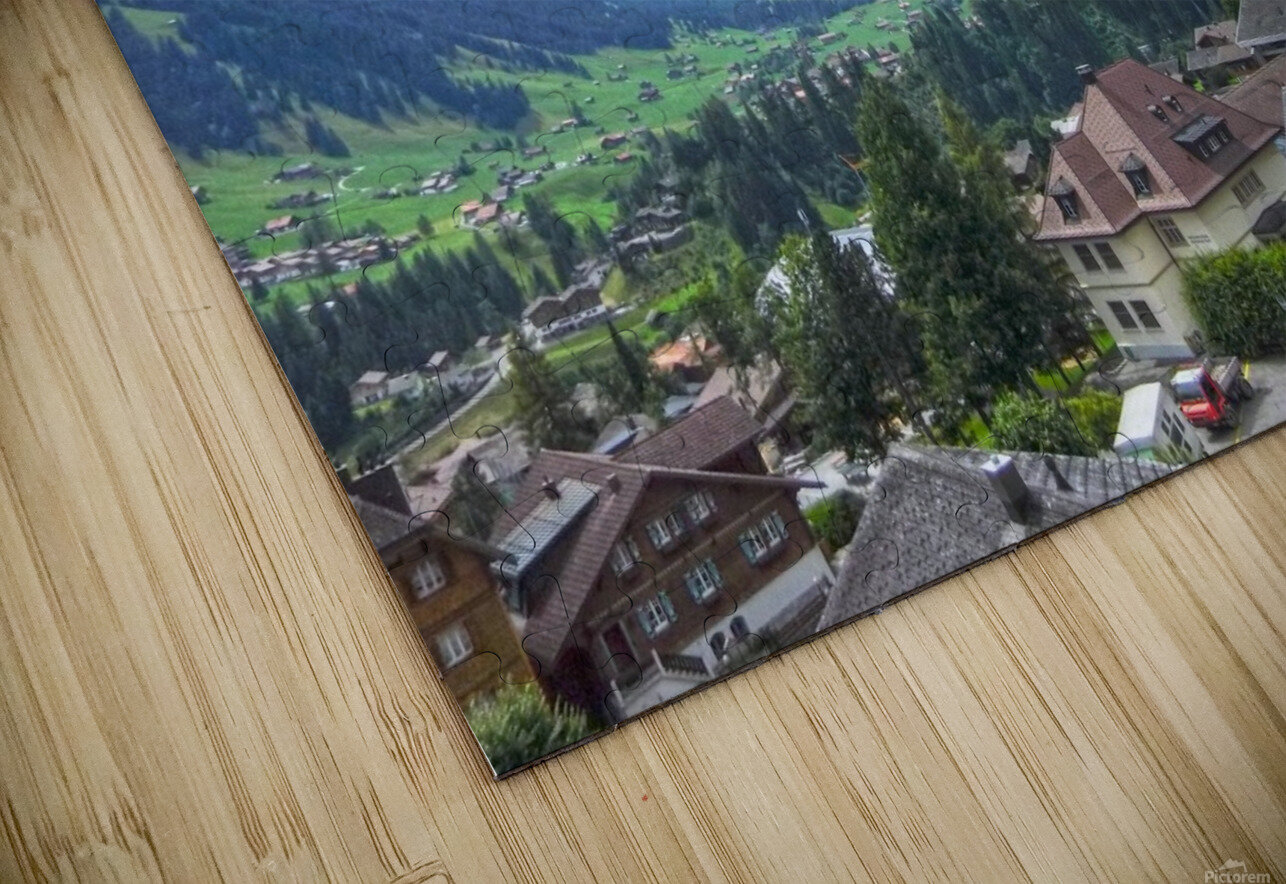 Beautiful Day in the Swiss Alps HD Sublimation Metal print