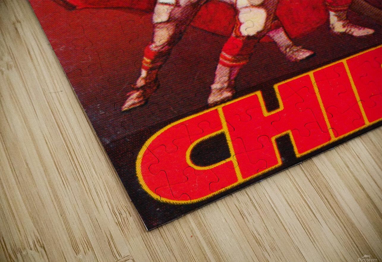 1984 Kansas City Chiefs Football Poster HD Sublimation Metal print