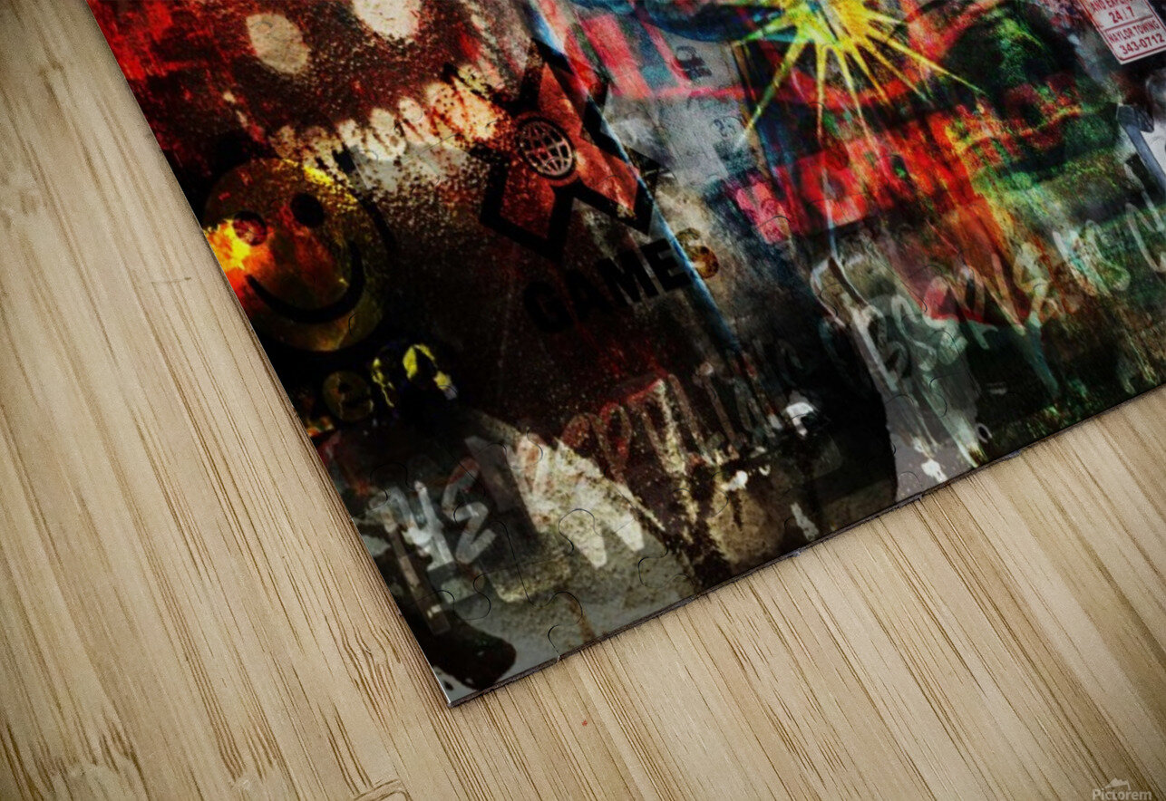 Street Art Reptilian   HD Sublimation Metal print