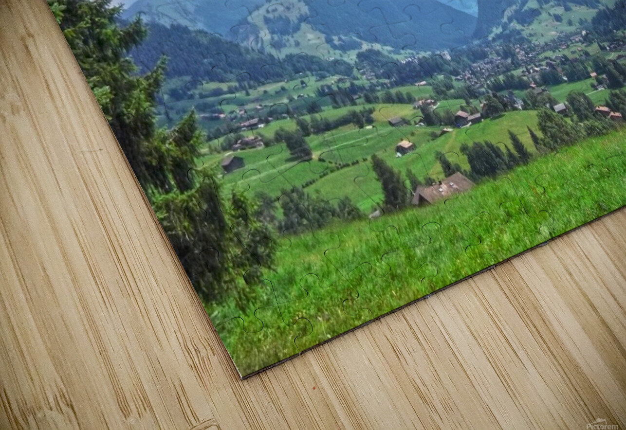 The Last Paradise in a Crazy World Gstaad Switzerland HD Sublimation Metal print