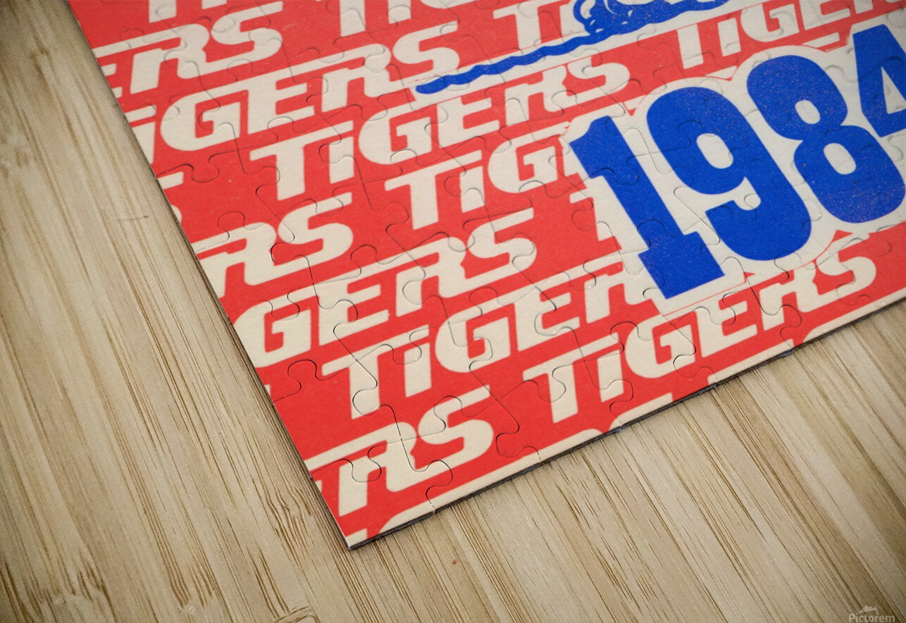 1984 Detroit Tigers Baseball Poster HD Sublimation Metal print