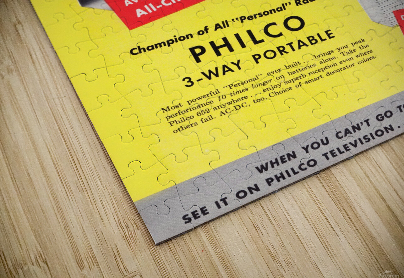 Vintage Philco Television Advertisement HD Sublimation Metal print