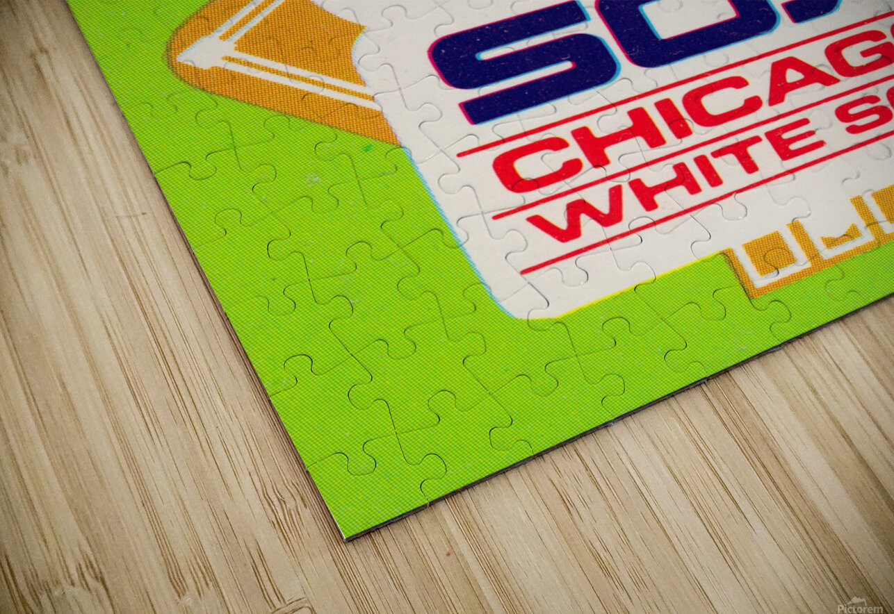 1980 Chicago White Sox Fleer Decal Wall Art HD Sublimation Metal print