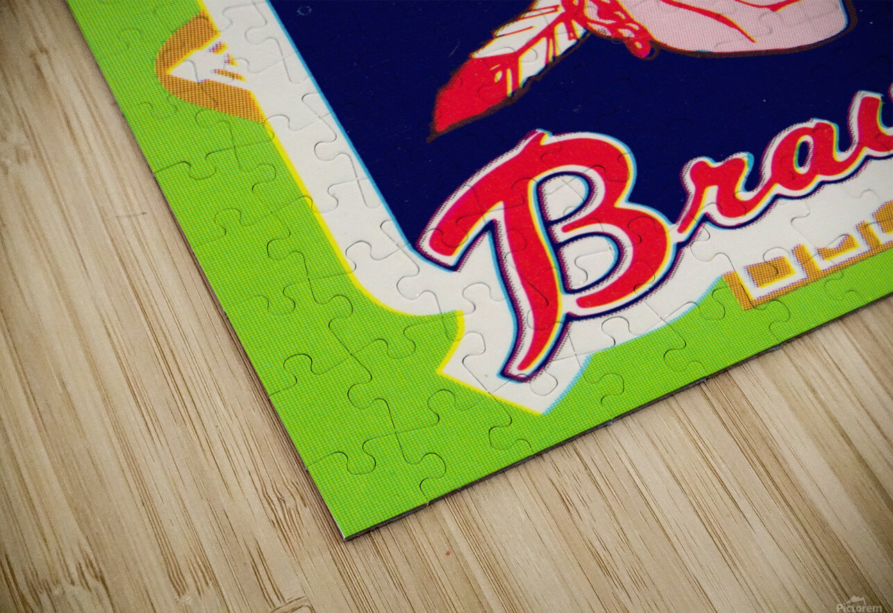 1981 Atlanta Braves Fleer Decal Poster HD Sublimation Metal print