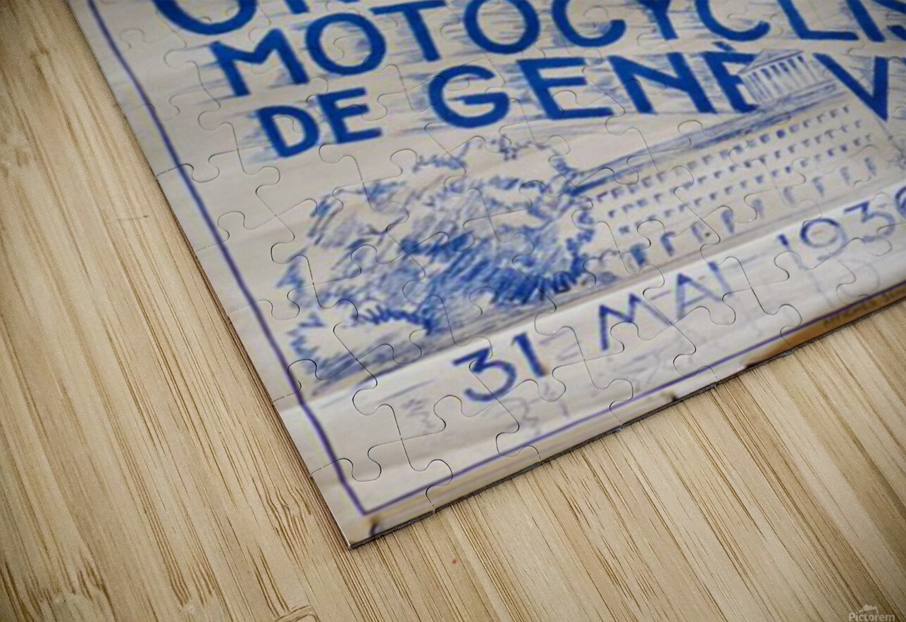 Grand Prix Motocycliste HD Sublimation Metal print