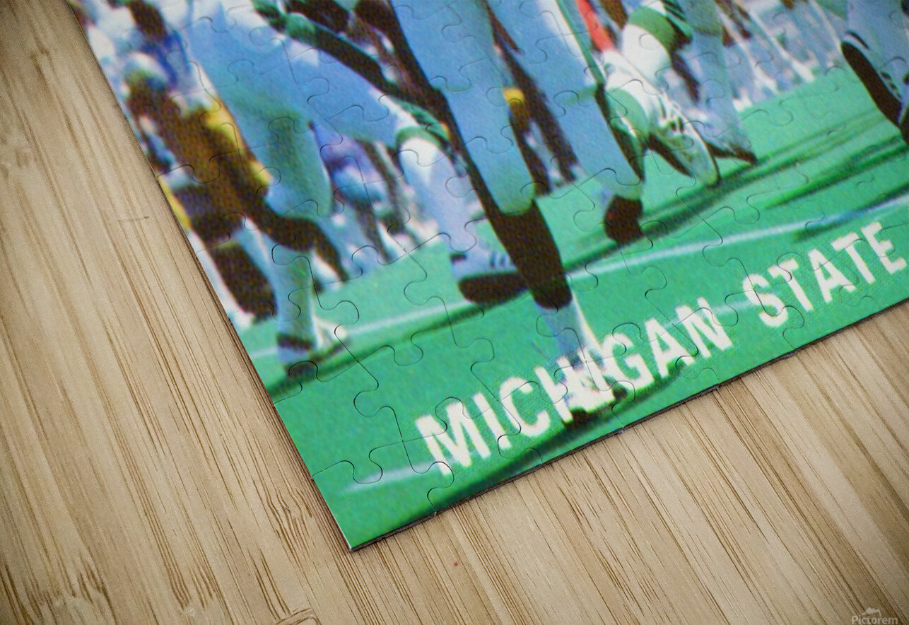 1984 Michigan State Football Poster HD Sublimation Metal print