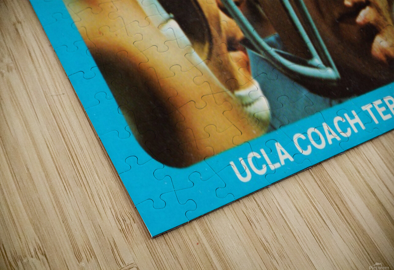 1977 UCLA Bruins Terry Donahue Football Poster HD Sublimation Metal print