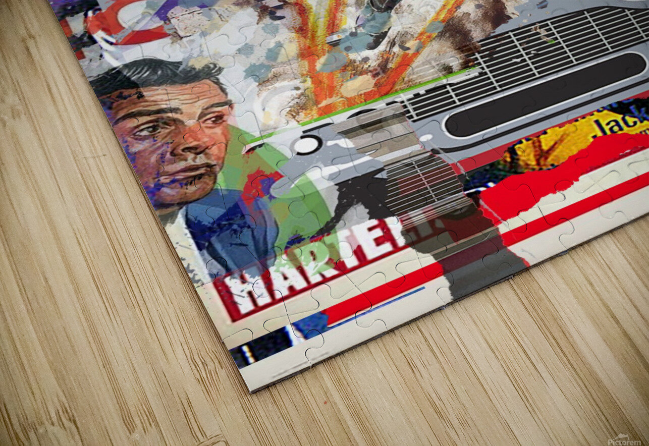 Street art Bond 1  HD Sublimation Metal print