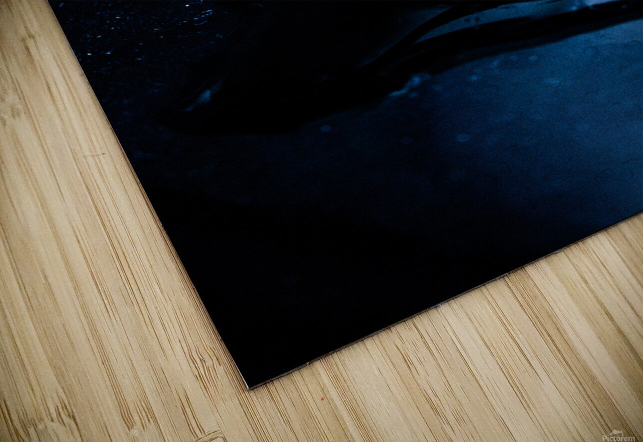 Gentle Blue Touch HD Sublimation Metal print