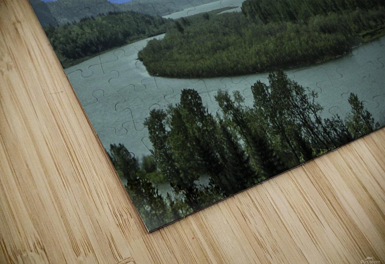 Columbia River The Gorge Oregon Panorama HD Sublimation Metal print