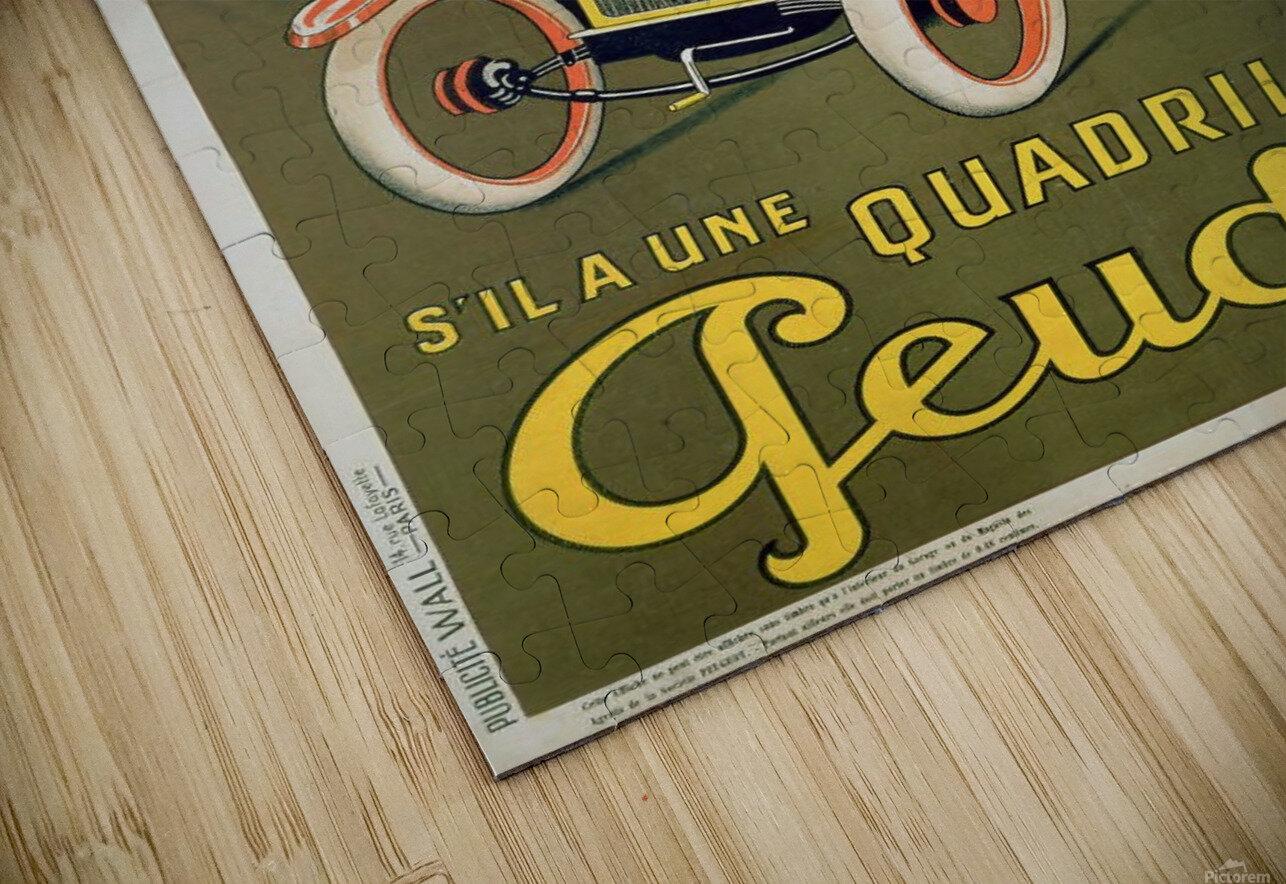 Quadrilette Peugeot HD Sublimation Metal print