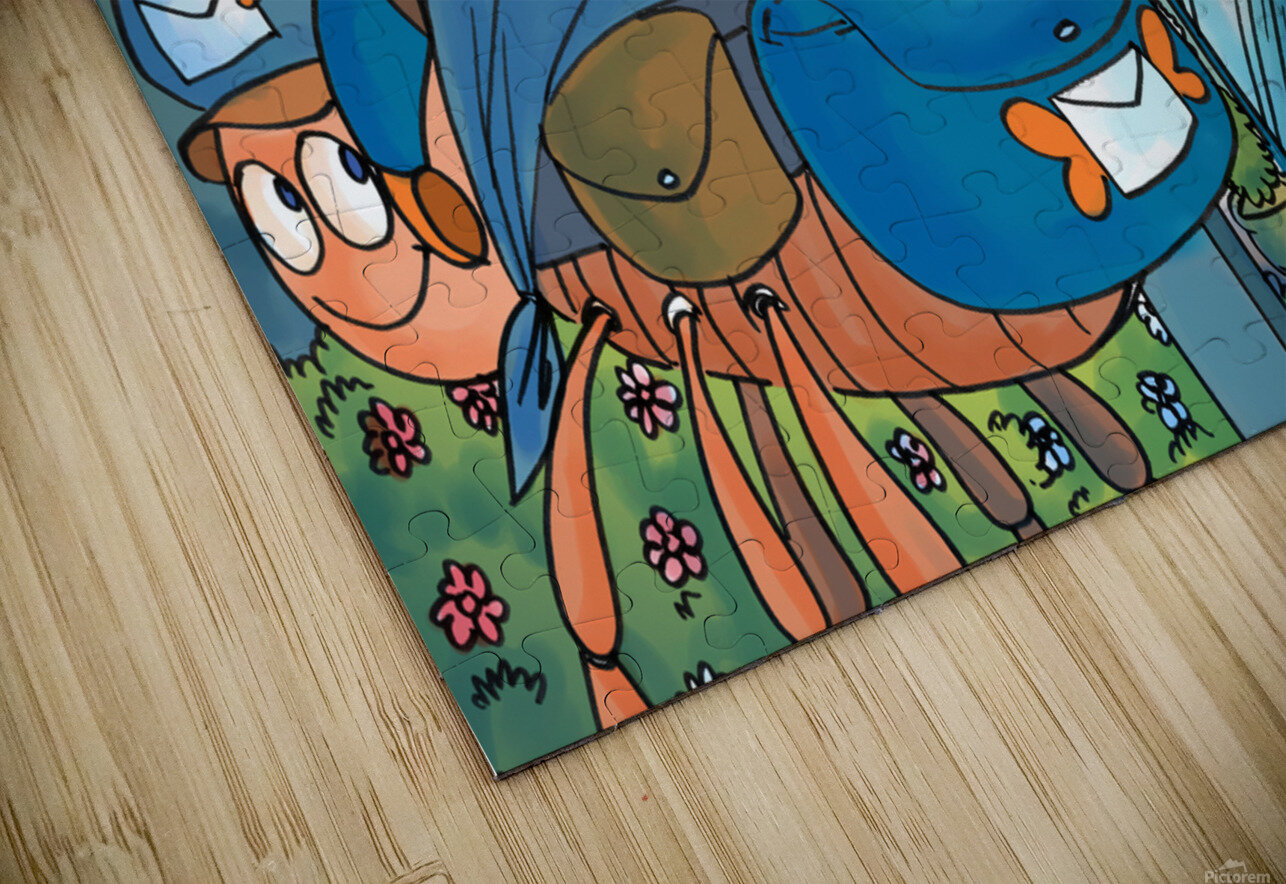 At the Post Office - Places in Bugville Collection 1 of 4 HD Sublimation Metal print