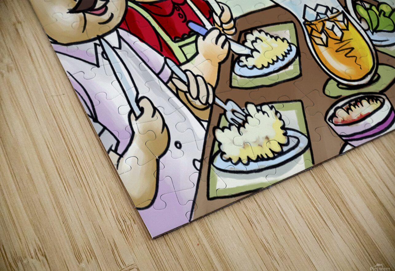 Dinner Time at the Bee House with the Family HD Sublimation Metal print