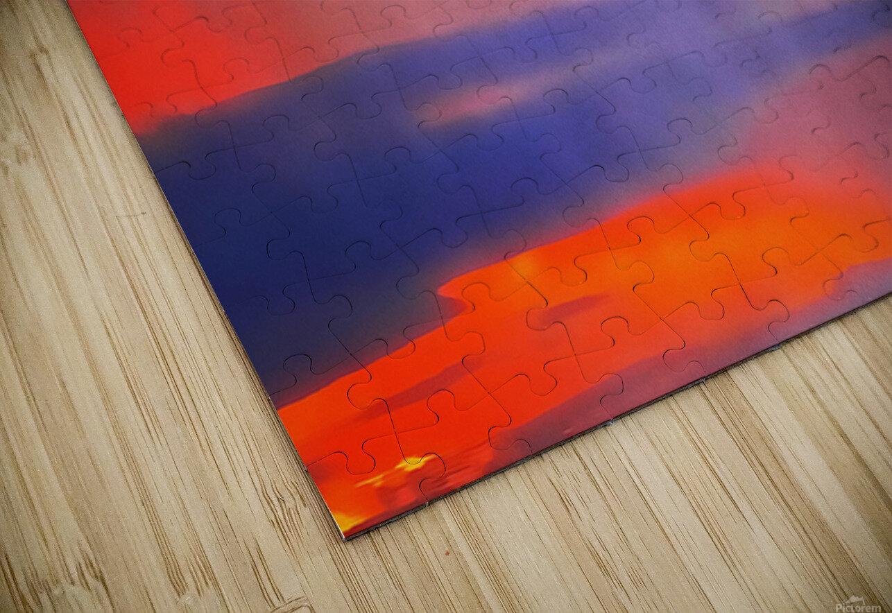 Orange Clouds HD Sublimation Metal print