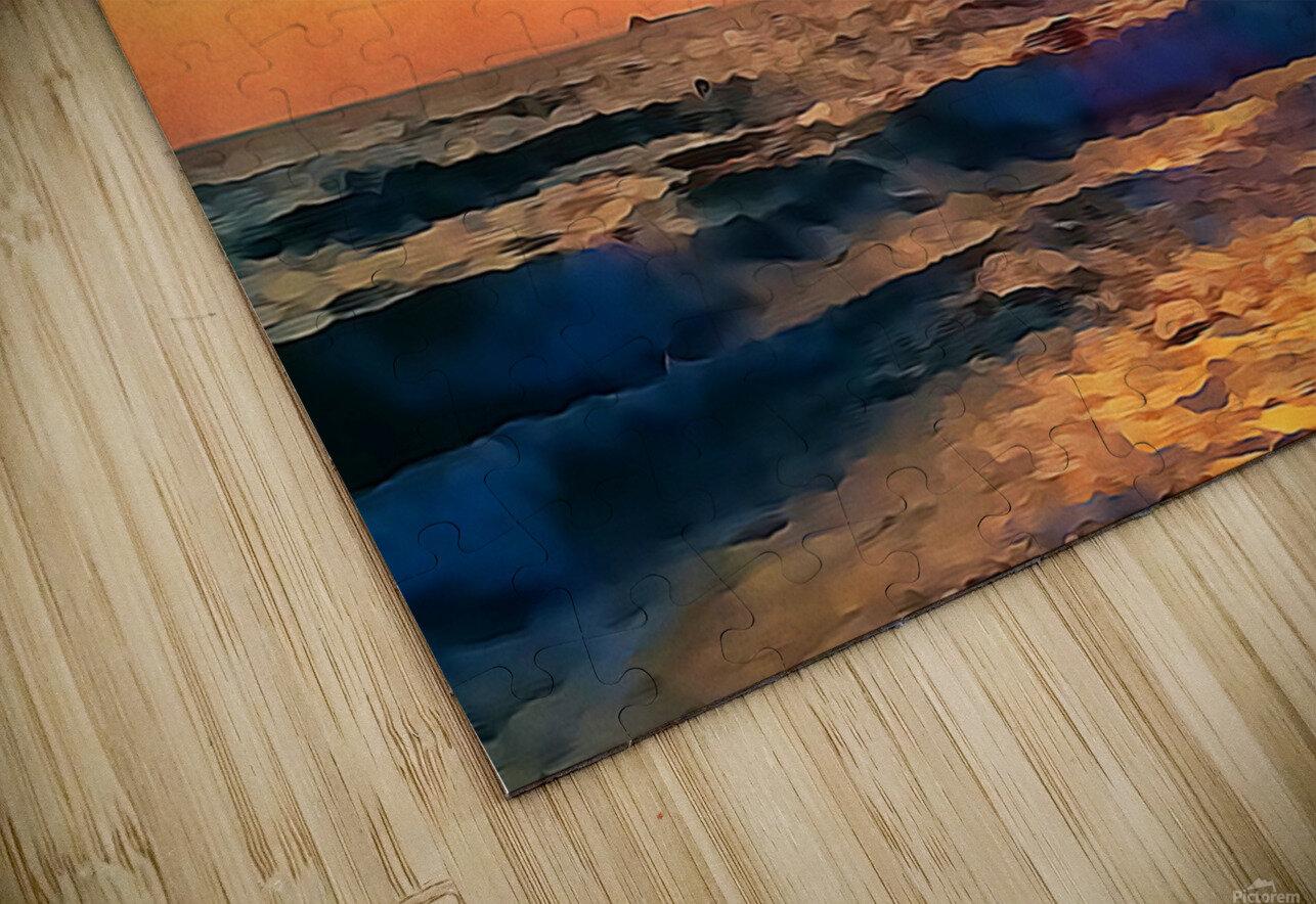manhattan beach sunset wall art HD Sublimation Metal print