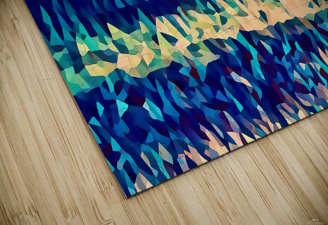 abstract blue sky ocean HD Sublimation Metal print