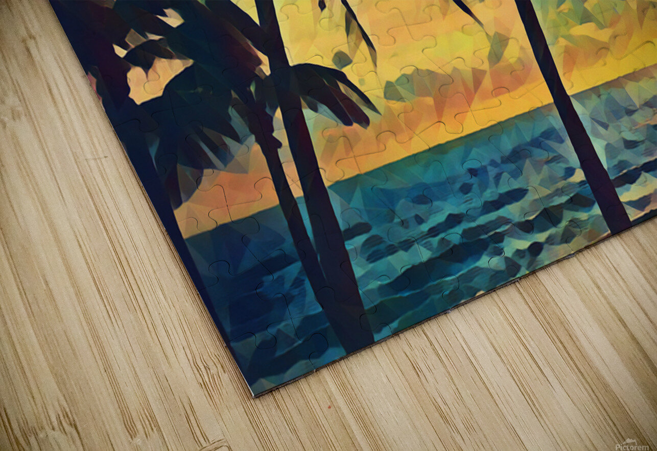 florida palm trees art HD Sublimation Metal print