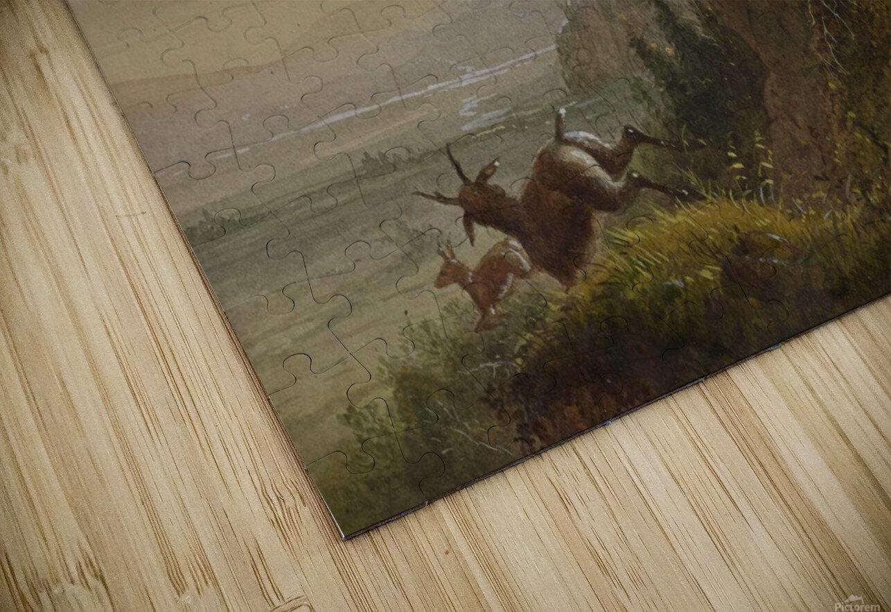 A Pawnee Indian shooting antelopes Impression de sublimation métal HD