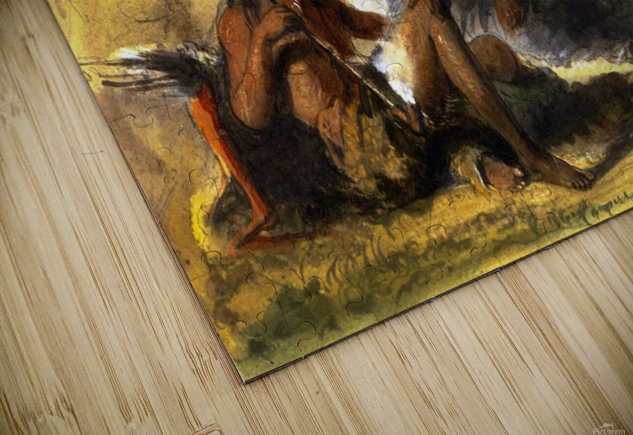 Pawnee Indian Camp HD Sublimation Metal print