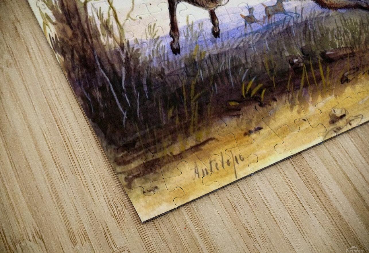 Antelope running HD Sublimation Metal print