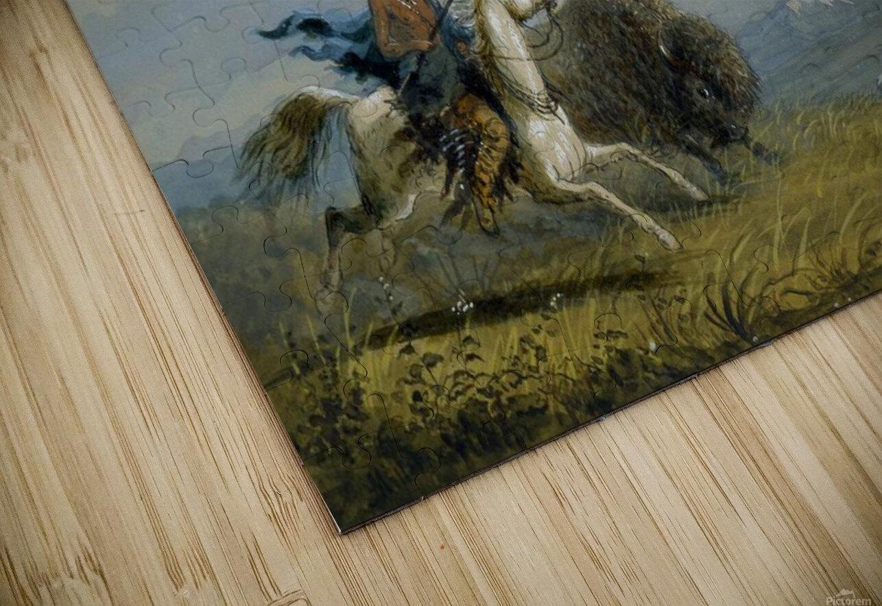 Pawnee Running Buffalo Impression de sublimation métal HD