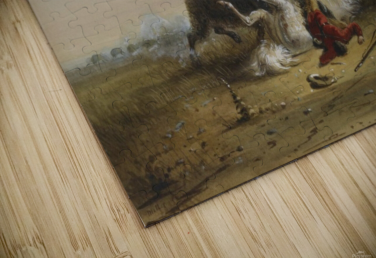 Pierre and the Buffalo HD Sublimation Metal print