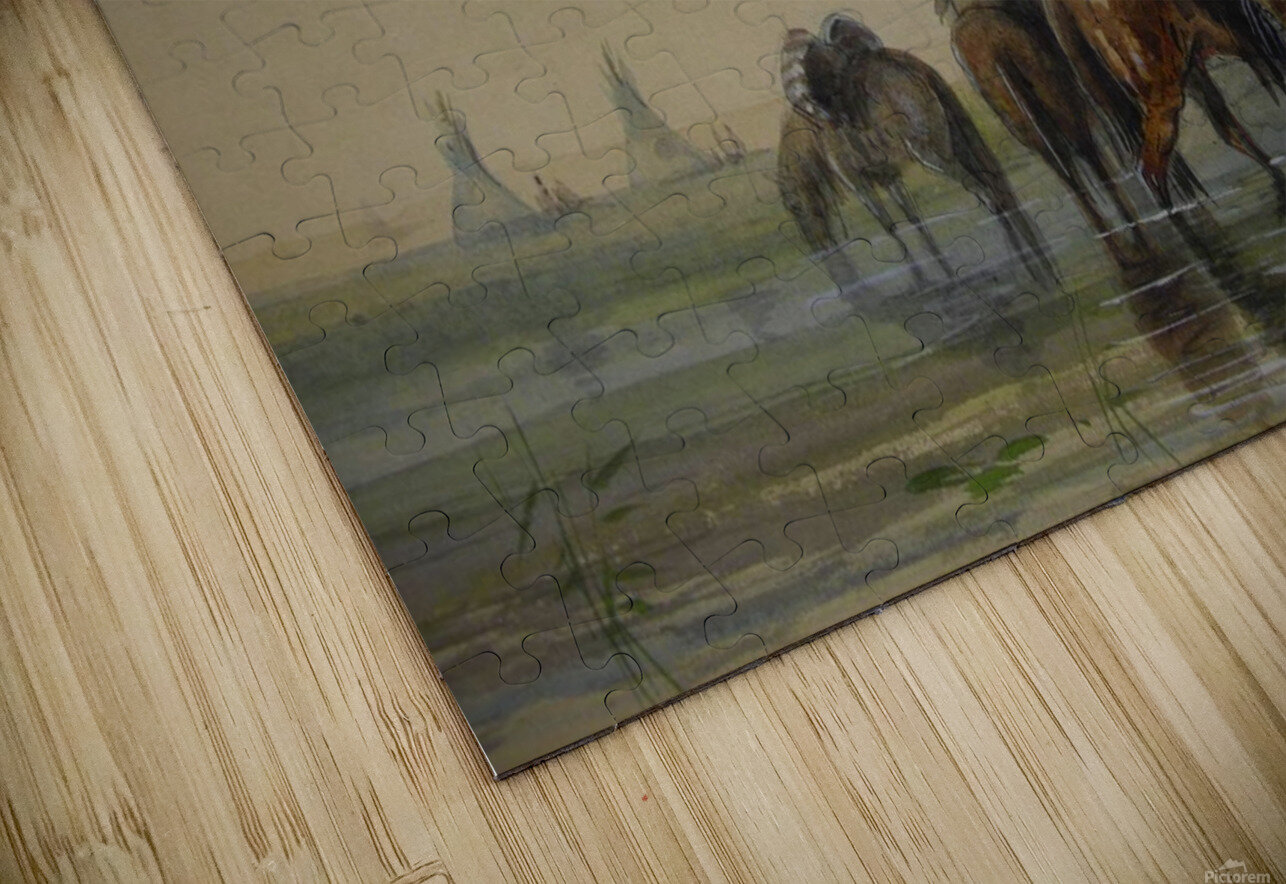Outside an Indian village HD Sublimation Metal print