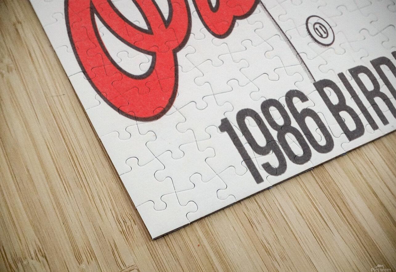 1986 Baltimore Orioles Metal Sign HD Sublimation Metal print