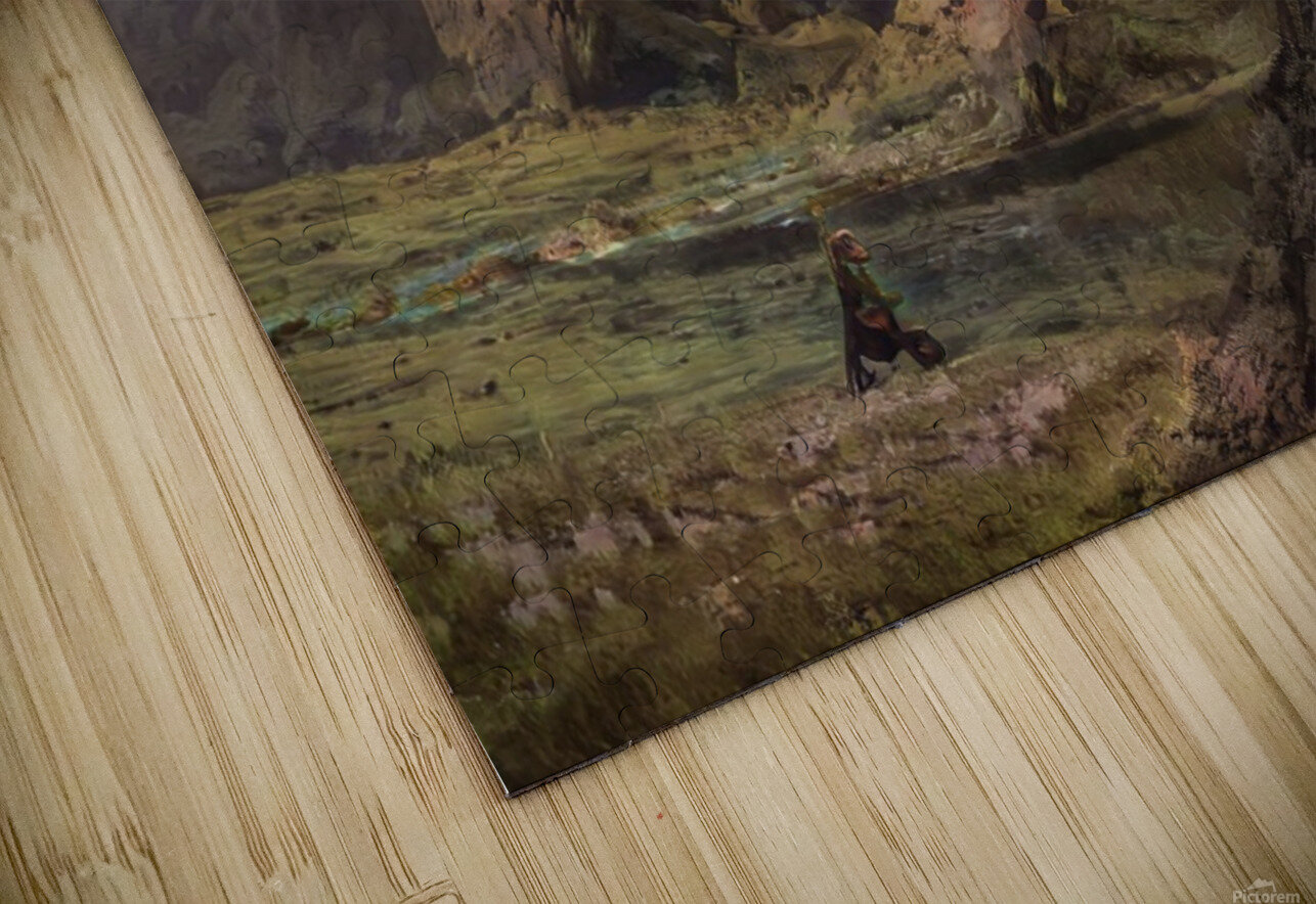 Landscape with giant skull HD Sublimation Metal print