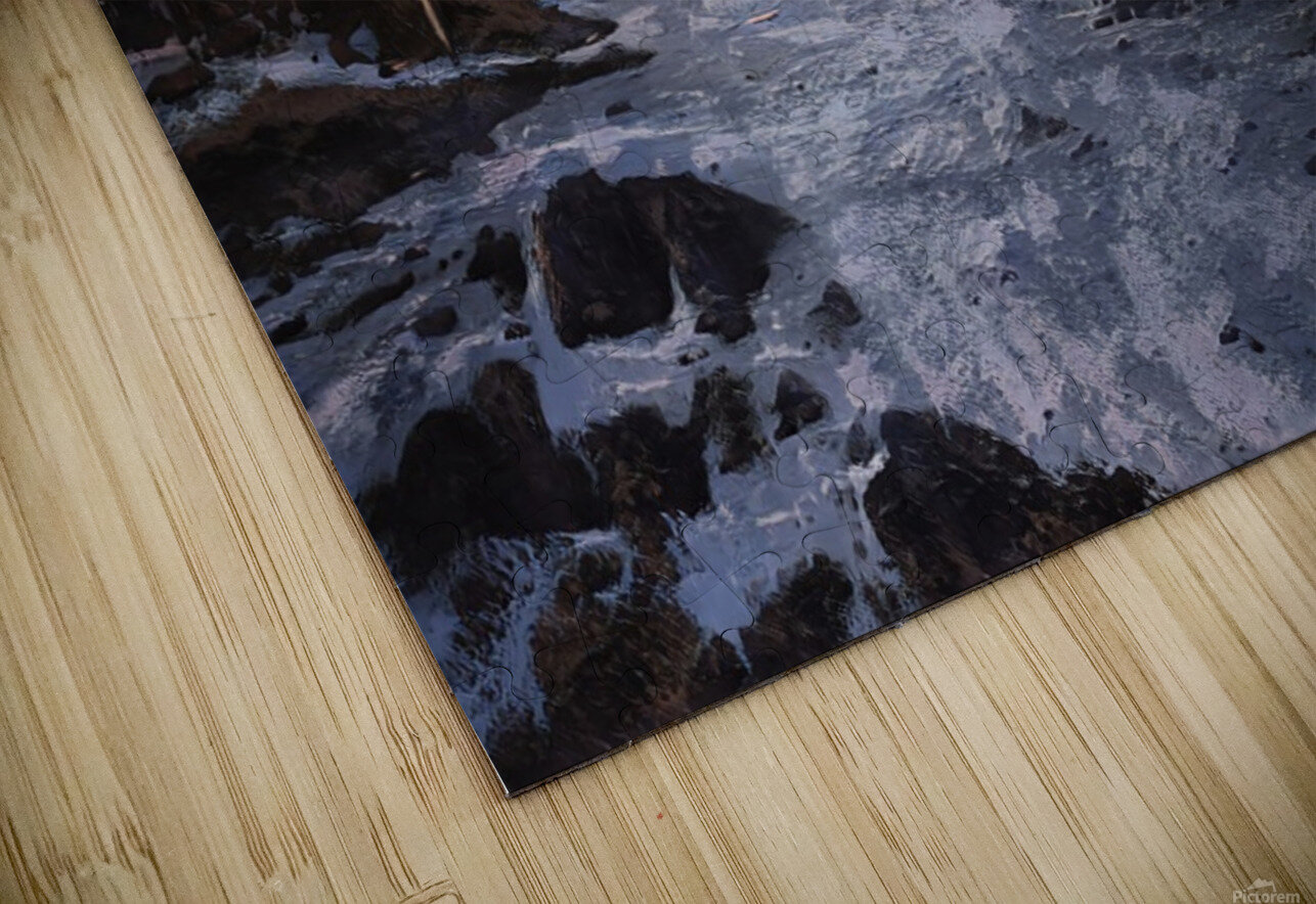 River rolling over stones HD Sublimation Metal print
