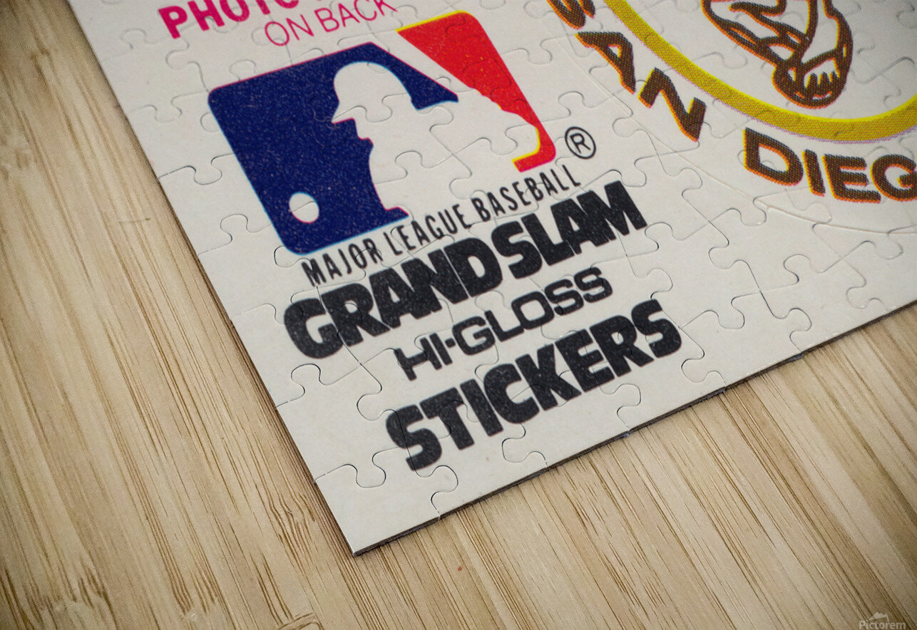 1981 Fleer San Diego Padres Decal Poster HD Sublimation Metal print