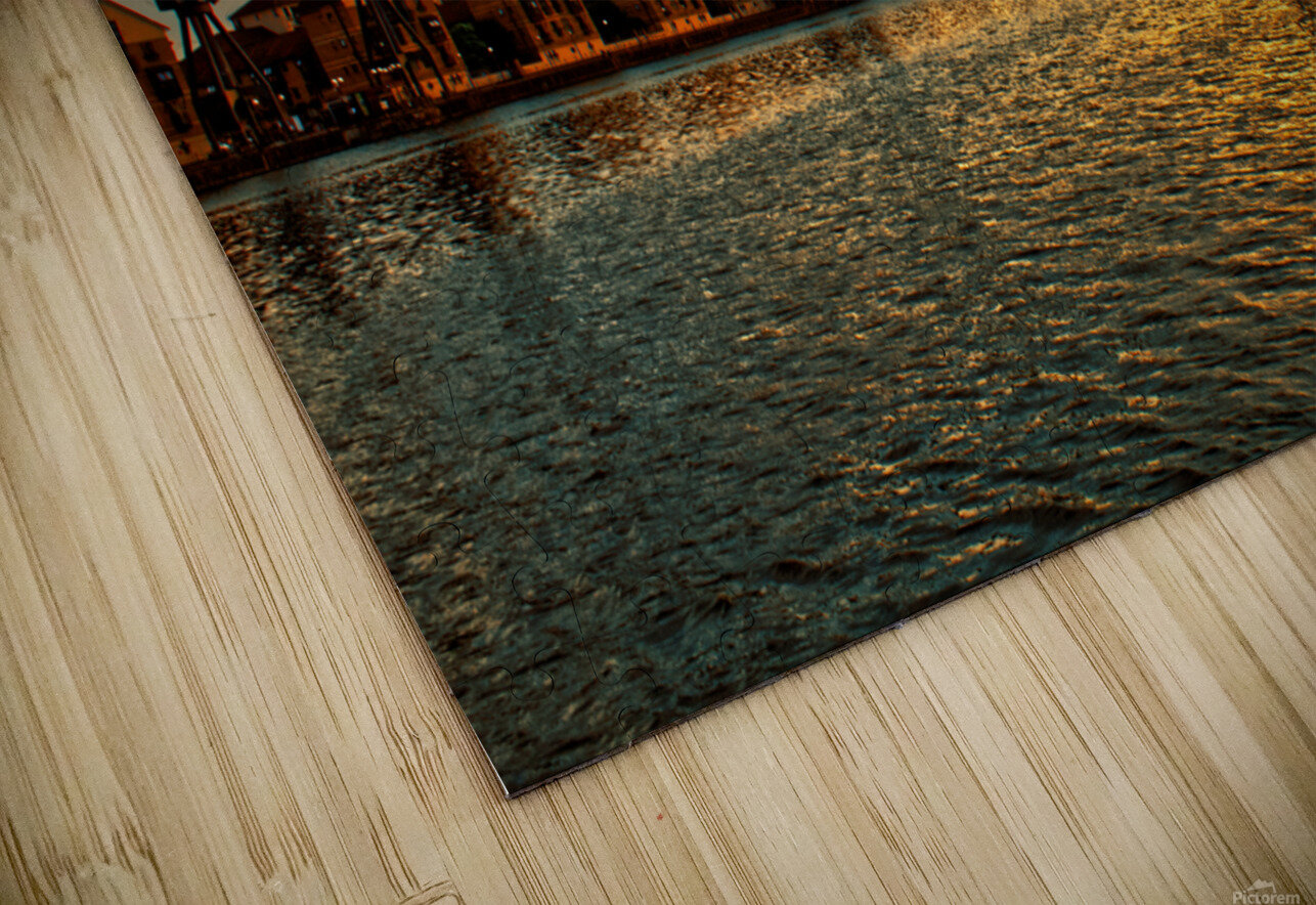 Amazing Sunset over river HD Sublimation Metal print