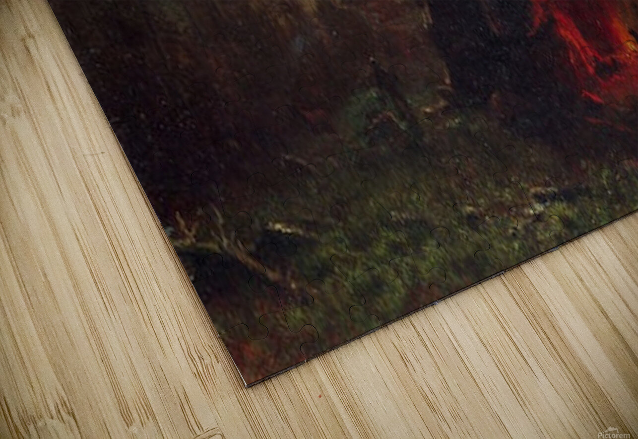 Trapper s camp by Bierstadt HD Sublimation Metal print