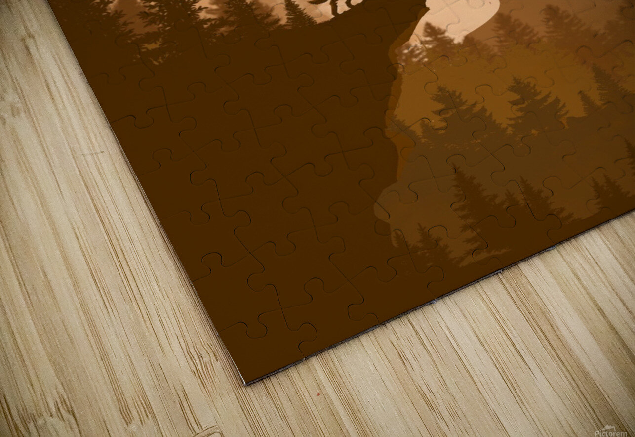 Mountain Wolf Day HD Sublimation Metal print