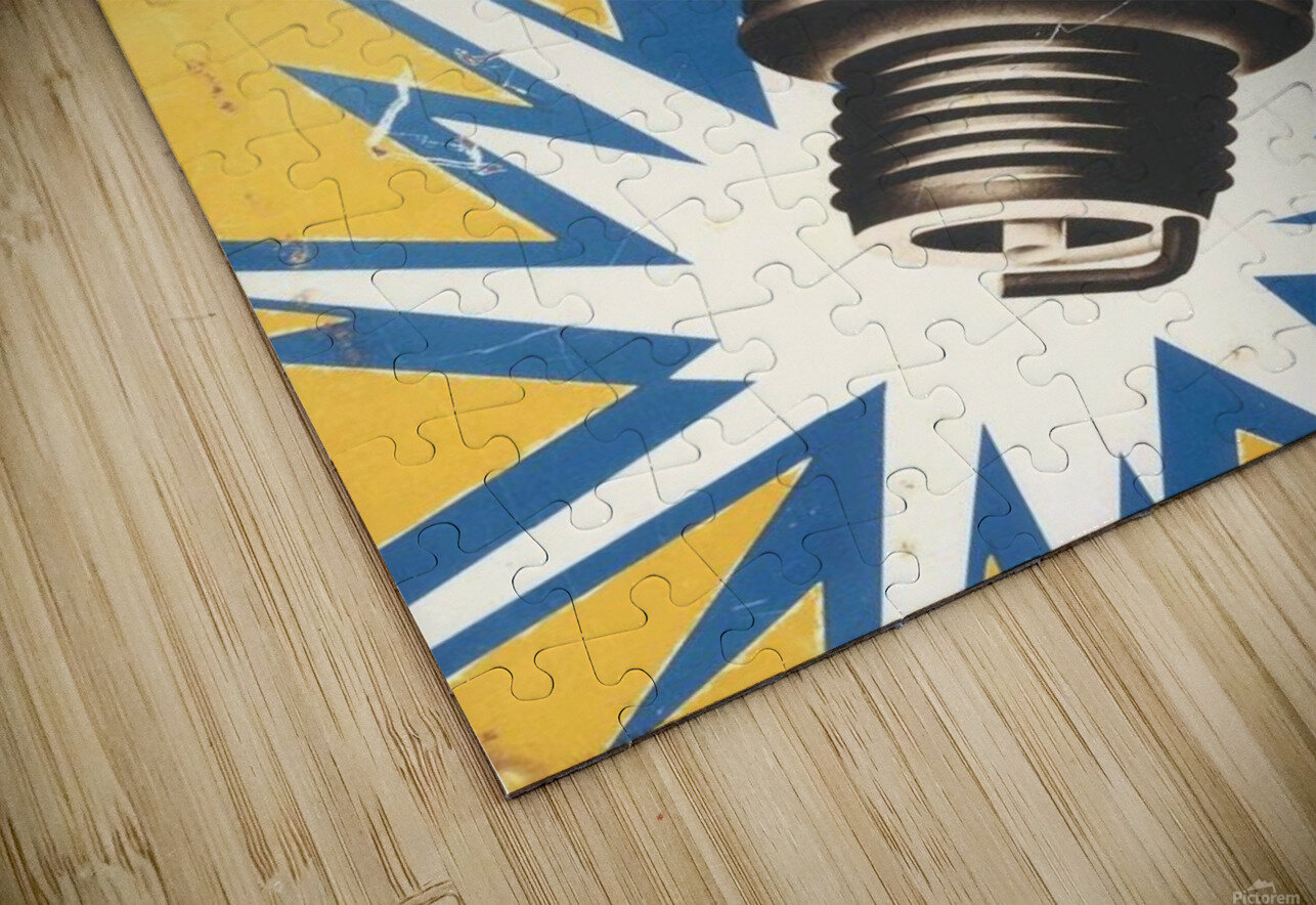 Vintage Bosch Spark Plug Automobile HD Sublimation Metal print