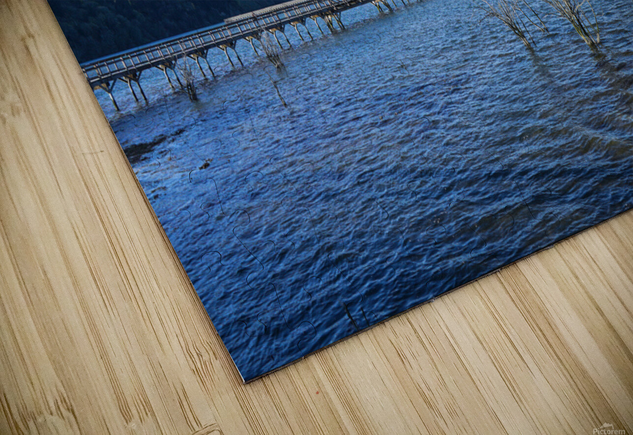 One Day at the Estuary 2 of 4 HD Sublimation Metal print