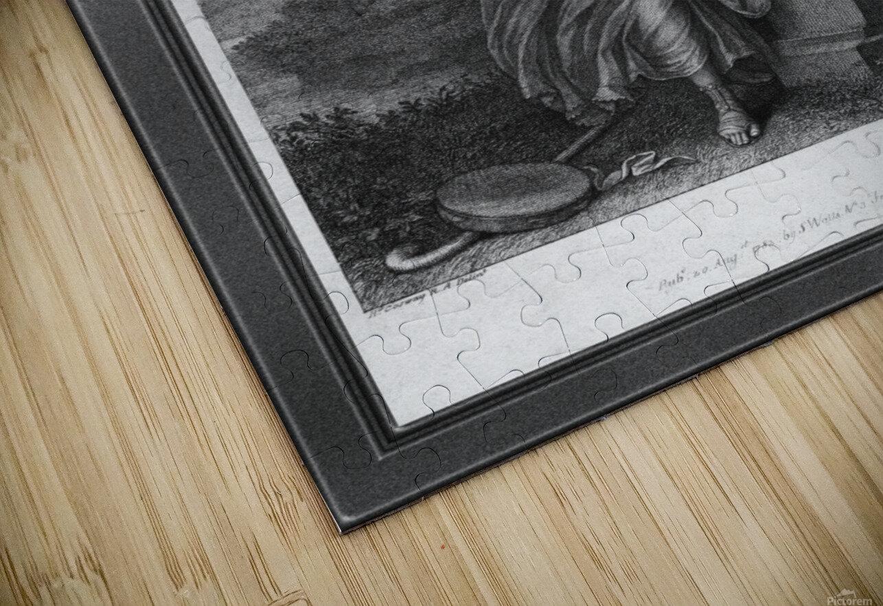 Mrs. Abington as Thalia by Engraver Francesco Bartolozzi Classical Art Old Masters Reproduction HD Sublimation Metal print