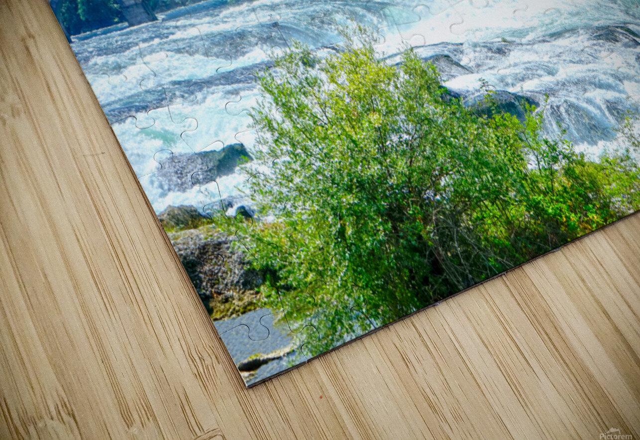 Perfect Day at Rhine Falls Switzerland HD Sublimation Metal print