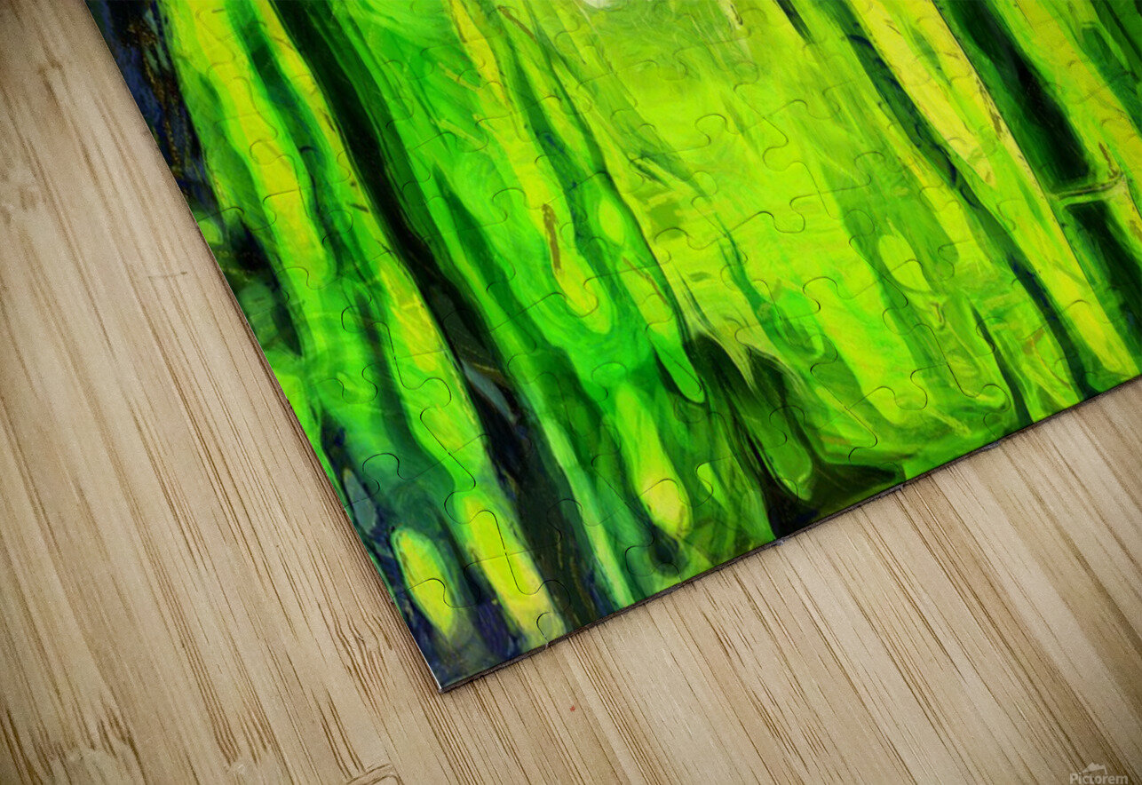 Bamboo forest oil painting inVincent Willem van Goghstyle. 3.  HD Sublimation Metal print