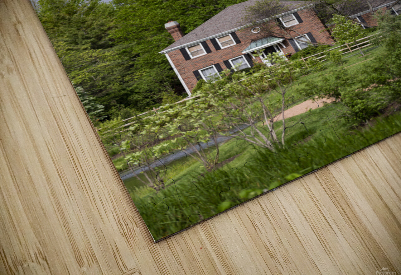 House in the Woods HD Sublimation Metal print