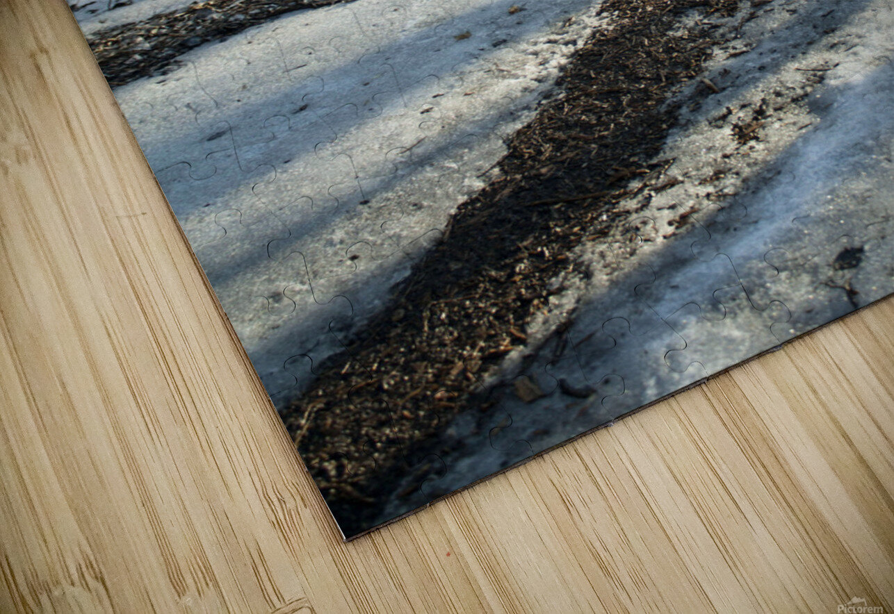 Snowy Trails HD Sublimation Metal print