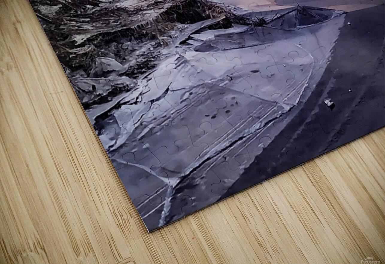 A Violet Sunset HD Sublimation Metal print