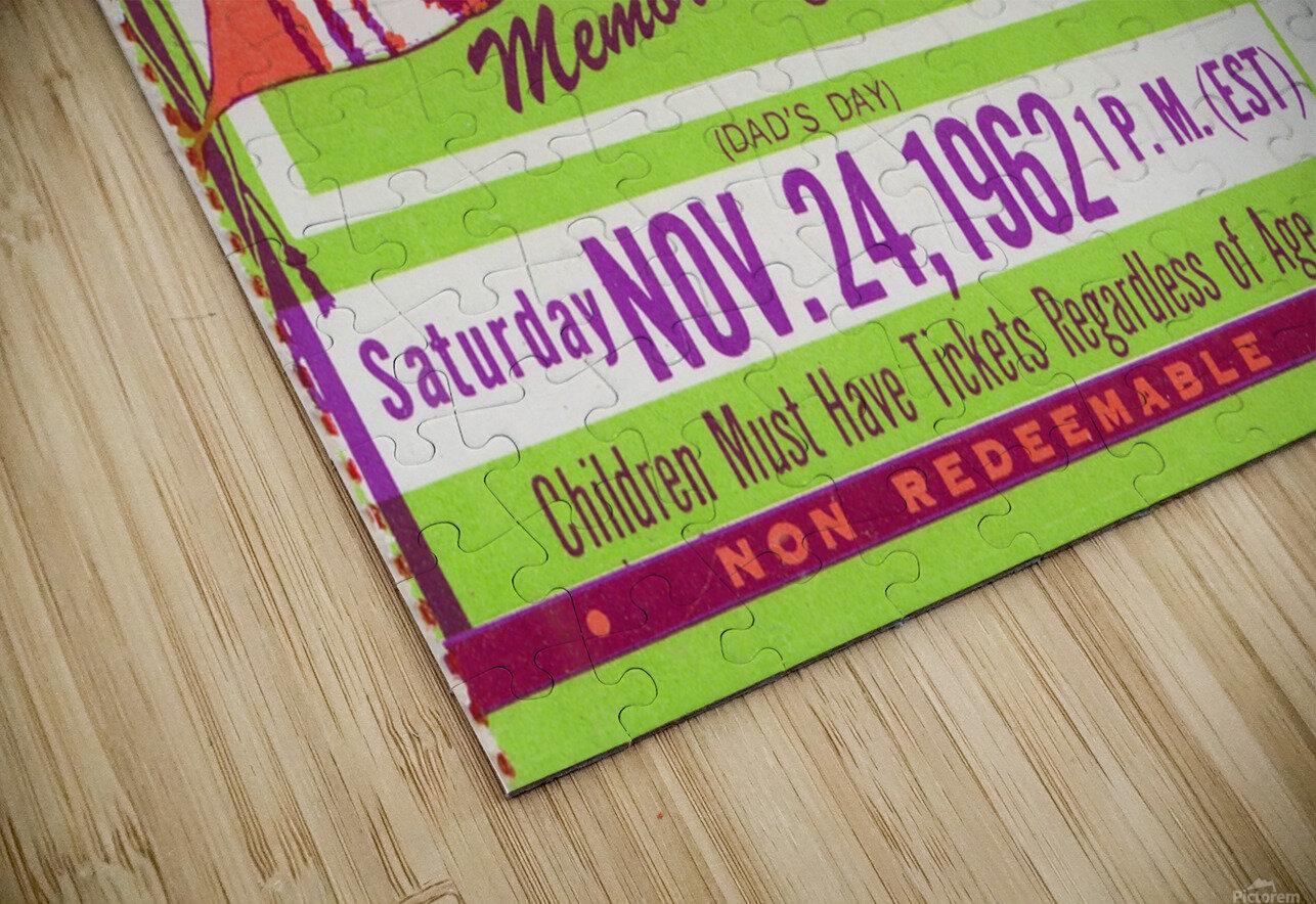 1962 Clemson vs. South Carolina HD Sublimation Metal print