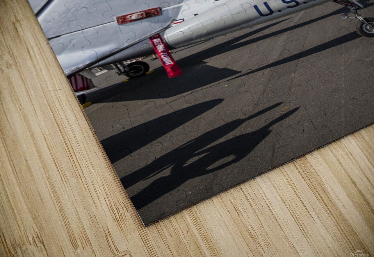 A Line of Planes HD Sublimation Metal print