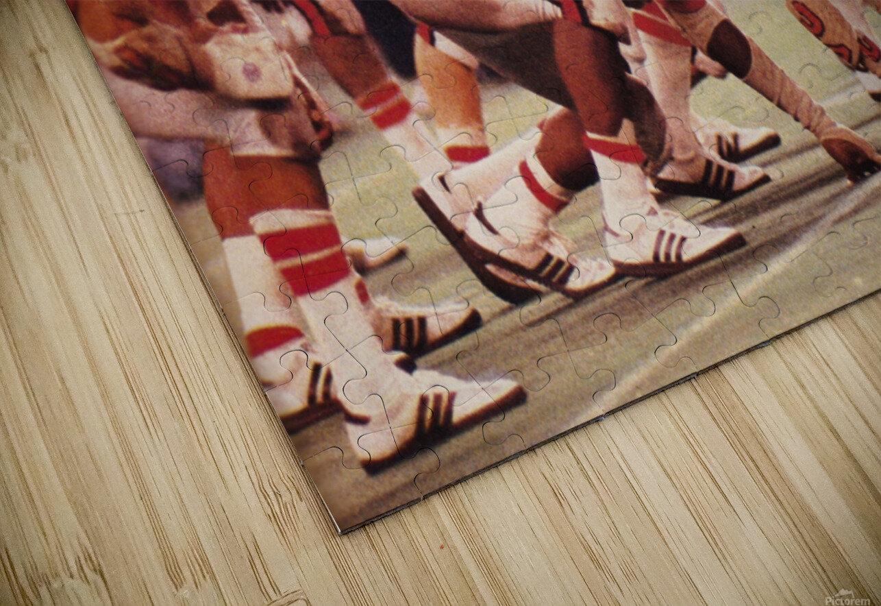 1977 UCLA vs. Houston Football Action HD Sublimation Metal print