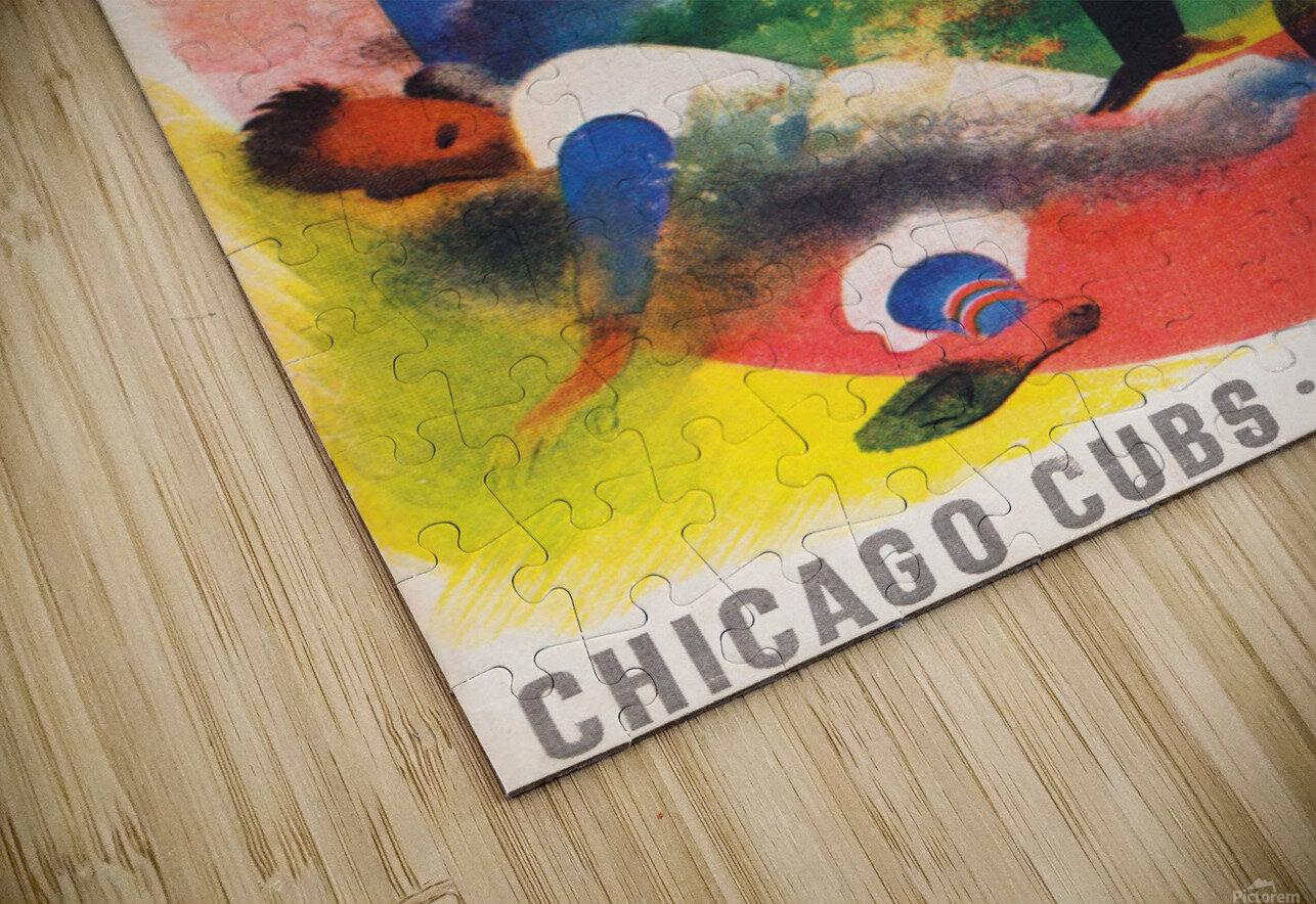 1947 Chicago Cubs Program Otis Shepard Art HD Sublimation Metal print