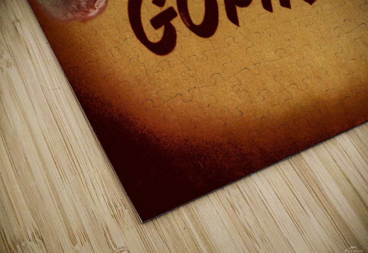 1950 Vintage Minnesota Golden Gopher Art HD Sublimation Metal print