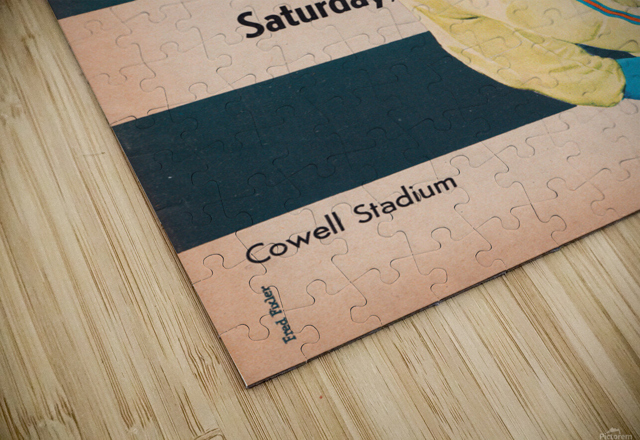 1961 Massachusetts vs. New Hampshire Wildcats HD Sublimation Metal print